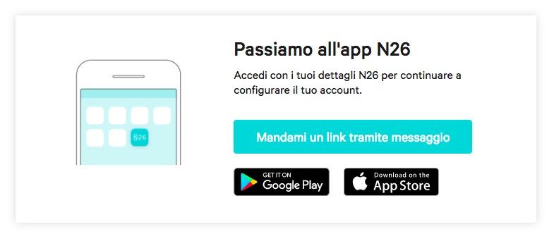 N26 App mobile configurazione