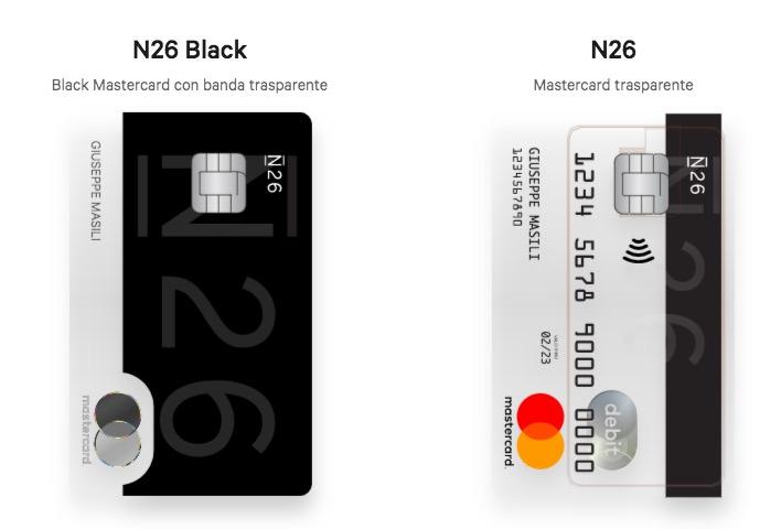 N26 con mastercard trasparente