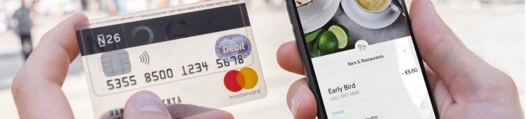 N26 carta di credito senza commissioni all'estero