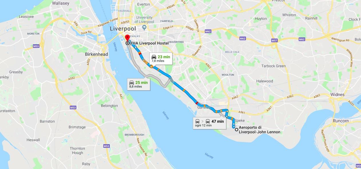 dove si trova aeroporto LPL Liverpool