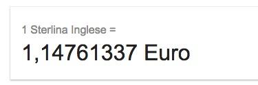 una sterlina in euro?